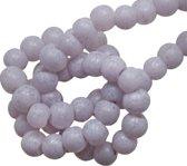 Glaskralen Stonewash (4 mm) Lilac (110 Stuks)