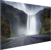 Waterval Aluminium 90x60 cm - Foto print op Aluminium (metaal wanddecoratie)