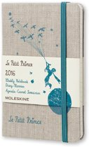 2016 Moleskine 12 month limited ed. planner - Le Petit Prince - weekly notebook - pocket - canvas - hard cover