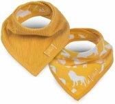 Jollein Safari Slab bandana ocher (2pack)
