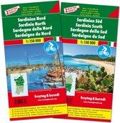 F&B Sardinië Noord en Zuid, set 2 kaarten