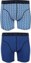 Cavello - 2-pack Boxershorts Blauw / Vis - S