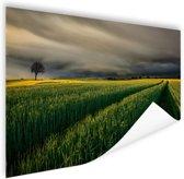 Natuurvelden in Europa Poster 120x80 cm - Foto print op Poster (wanddecoratie woonkamer / slaapkamer)