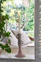 Riviera Maison Formentera Candle Holder - Kandelaar - M - roze - Hout