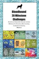Bloodhound 20 Milestone Challenges Bloodhound Memorable Moments.Includes Milestones for Memories, Gifts, Grooming, Socialization & Training Volume 2