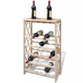 VidaXL Wijnrek - Hout - voor 25 flessen