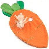 Knuffeldoekje wortel met konijn