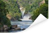 Murchison Falls stroomt in de rivier de Nijl Poster 120x80 cm - Foto print op Poster (wanddecoratie woonkamer / slaapkamer)
