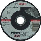 Doorslijpschijf recht Standard for Inox - Rapido WA 60 T BF, 125 mm, 22,23 mm, 1,0 mm 1st