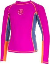 Color Kids Vissen T-shirt LS UPF Zwemshirt - Maat 98  - Unisex - roze/oranje/grijs