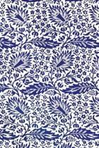 Vintage Blue Floral Design Pattern Journal