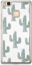 Huawei P9 Lite siliconen hoesje - Cactus print