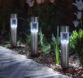 Zonnelamp Stake (Set van 6) Modern design - Aluminium padverlichting - Zonne-energie