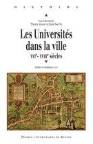 Les universités dans la ville