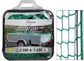 Aanhangwagennet 1,40 x 2,5 meter In tas aanhangwagen net