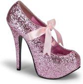 Teeze-10G Pink glitter - (EU 37 = US 7) - Bordello