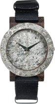 Plantwear Raw serie Double Stone Ebony Zilver Mini houten Horloge