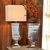 LOBERON Tafellamp Denver zilverkleurig/crème