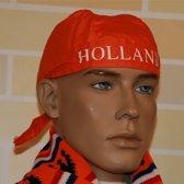 Oranje bandana met Holland opdruk