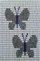 Vliegengordijn Hulzen 90x210 cm Kant en Klaar Vlinders Tropical
