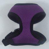 Sport harnas voor de hond in de kleur paars. - XXL (lengte rug 41 cm, omvang borst 56 cm, omvang nek 40 cm)