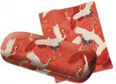 Brillendoos women haori with white and red cranes