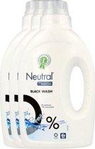 Neutral 0% Zwart & Donker Parfumvrij Vloeibaar - 54 wasbeurten - 3 x 1.08 l - Wasmiddel - Voordeelverpakking
