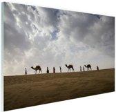 Woestijn India  Glas 90x60 cm - Foto print op Glas (Plexiglas wanddecoratie)
