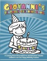 Giovanni's Birthday Coloring Book Kids Personalized Books