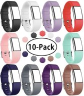 Eyzo Siliconen bandjes - Fitbit Charge 2 - 10-pack - Small