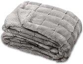 Unique Living Xavi - Fleece plaid - 130x160 cm - Grey