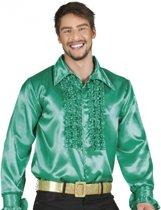Voordelige groene rouche blouse M