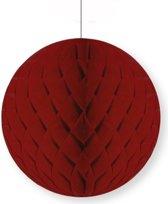 Decoratie bol bordeaux 10 cm - papieren kerstbal
