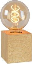Lucide PABLO - Tafellamp - Licht hout