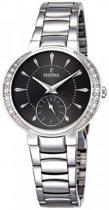 Festina F16909/2 horloge dames - zilver - edelstaal