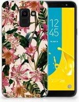 Samsung Galaxy J6 2018 Uniek TPU Hoesje Flowers