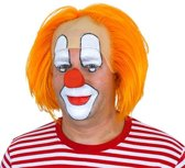 pruik clown bastiaan - oranje