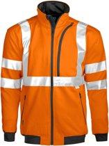 Projob 6103 Sweatshirt Oranje/Zwart maat XS