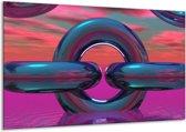 Glasschilderij Abstract   Paars, Blauw   120x70cm 1Luik   Foto print op Glas    F001465