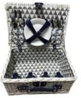 Imperial Kitchen Picknickmand 4-pers wit grijs/geblokt