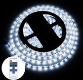 YWXLLight dimbaar licht Strip Kit  SMD 2835 5m LED lint  waterdicht voor Indoor  11key afstandsbediening LED Strip Lamp 300LEDs ons Plug (koud wit)