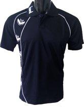 KWD Poloshirt Pronto korte mouw - Zwart/wit - Maat L