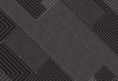 Fotobehang Black White Abstract Pattern | M - 104cm x 70.5cm | 130g/m2 Vlies