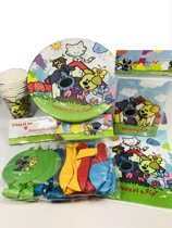 Woezel en Pip FEESTPAKKET verjaardagspakket bekers bordjes feestzakjes ballonnen bekers uitnodigingen
