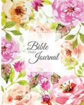 Bible Study Journal: Creative Christian Workbook, Simple Journaling Scripture with Watercolor Flower Cover