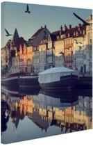Nyhavn in de ochtend Canvas 20x30 cm - Foto print op Canvas schilderij (Wanddecoratie)