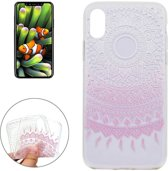 iPhone X / XS - hoes, cover, case - TPU - Transparant - Mandala design