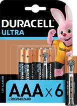Duracell AAA Ultra Power - 6 -  Alkaline Batterijen