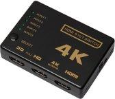 Compacte HDMI switch met 4K ondersteuning 5x IN naar 1x OUT / HaverCo