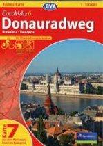 BVA-Radreisekarte Eurovelo 6 Karte 07 Donauradweg 1 : 100 000